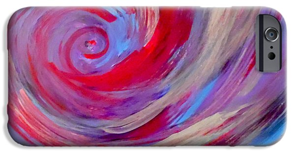 Abstract Expressionism iPhone Cases - Endless Longing iPhone Case by Jilian Cramb