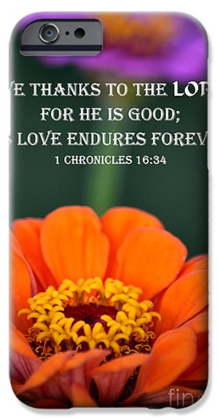 Botanical Photographs iPhone Cases - Enduring Love iPhone Case by Deb Halloran
