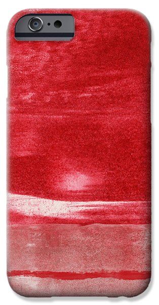 Red Abstract Mixed Media iPhone Cases - Energy- Abstract Art by Linda Woods iPhone Case by Linda Woods