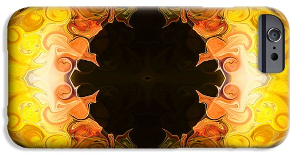 Earth Tones Glass iPhone Cases - Energy Attractions  Abstract Organic Bliss Artwork iPhone Case by Omaste Witkowski
