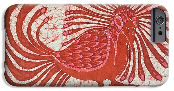Tribal Tapestries - Textiles iPhone Cases - Energy Bird iPhone Case by Carol  Law Conklin
