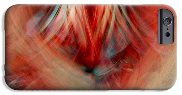 Abstract Digital iPhone Cases - Energy Of love iPhone Case by Linda Sannuti