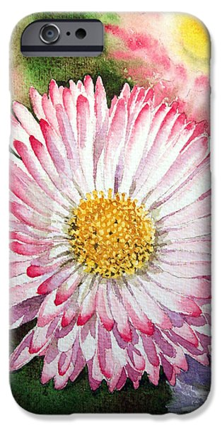 Celebration Paintings iPhone Cases - English Daisies  iPhone Case by Irina Sztukowski