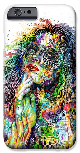 Watercolor iPhone Cases - Enigma iPhone Case by Callie Fink