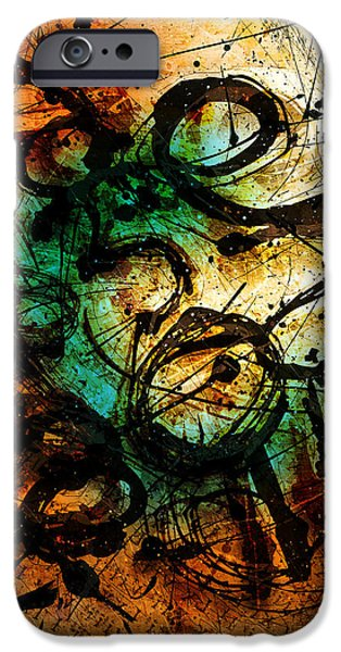 Abstract Drawing iPhone Cases - Enigma  iPhone Case by Gary Bodnar