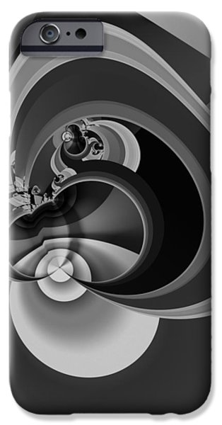 Modern Abstract iPhone Cases - Enigma Variation 6 - Abstract Art iPhone Case by Vic Eberly