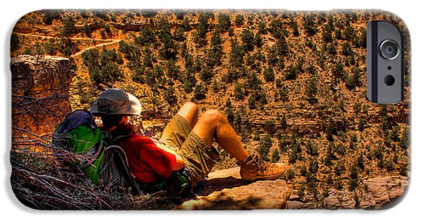 Grand Canyon iPhone Cases - Enjoying the View iPhone Case by David Patterson