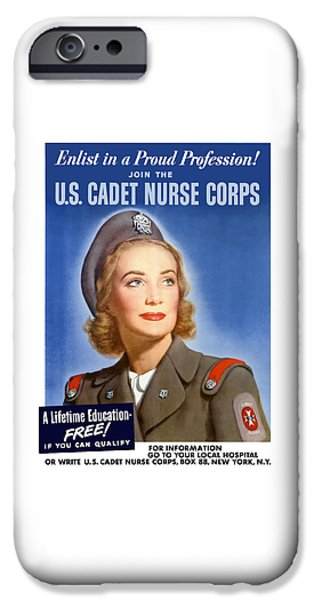 Nurse iPhone Cases - Enlist In A Proud Profession iPhone Case by War Is Hell Store
