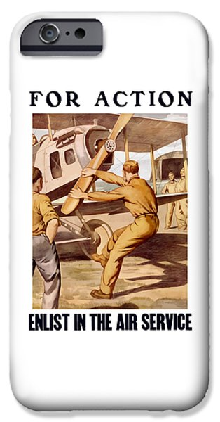 Air iPhone Cases - Enlist In The Air Service iPhone Case by War Is Hell Store