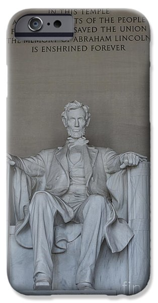 Lincoln iPhone Cases - Enshrined Forever iPhone Case by David Bearden