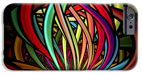 Abstract Digital iPhone Cases - Entanglement iPhone Case by Peggi Wolfe