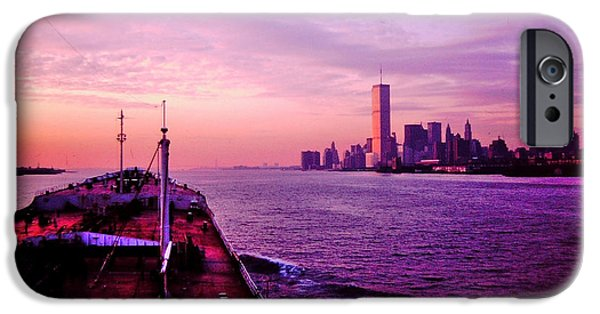 Marine iPhone Cases - Entering NYC Harbor iPhone Case by Mark Victors