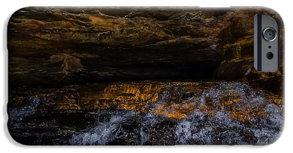 Cavern iPhone Cases - entering the unknown - Cavern iPhone Case by Chris Flees