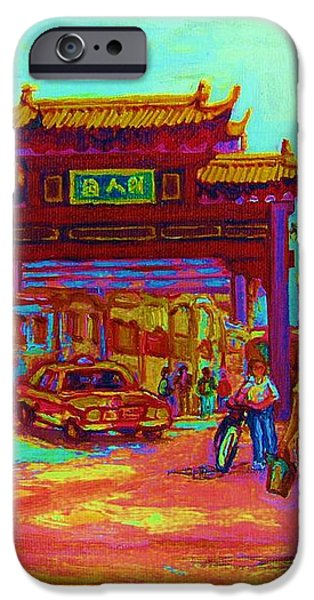 ENTRANCE TO CHINATOWN iPhone Case by CAROLE SPANDAU