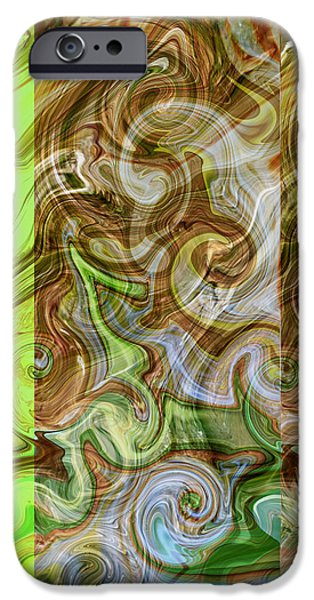 Abstract Digital Mixed Media iPhone Cases - Entwined iPhone Case by Aurora Art