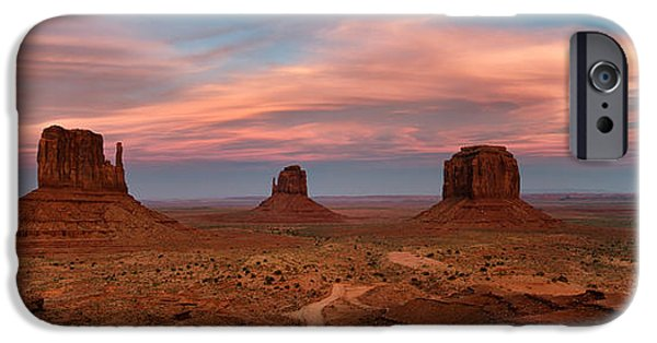 Epic iPhone Cases - Epic Monument Valley Sunset iPhone Case by Matthew Train