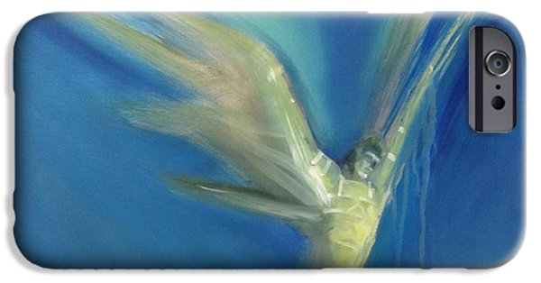 Angel Blues iPhone Cases - Epiphany iPhone Case by Barbara Hranilovich