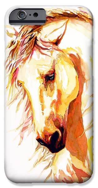 Unique Drawings iPhone Cases - Equus iPhone Case by Jose Espinoza