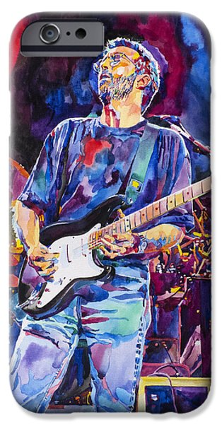Fender Strat iPhone Cases - ERIC CLAPTON and BLACKIE iPhone Case by David Lloyd Glover