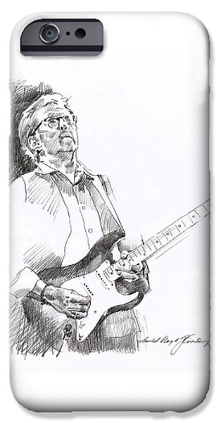 Stratocaster Drawings iPhone Cases - Eric Clapton Joy iPhone Case by David Lloyd Glover