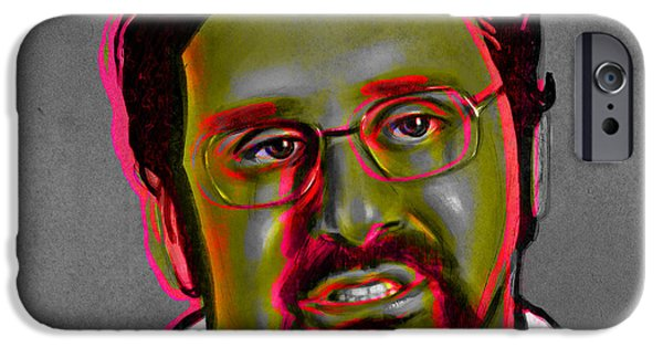 Celebrity Digital iPhone Cases - Eric Wareheim iPhone Case by Fay Helfer