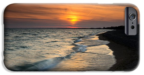 Sunset iPhone Cases - Erieau Sunset iPhone Case by Cale Best