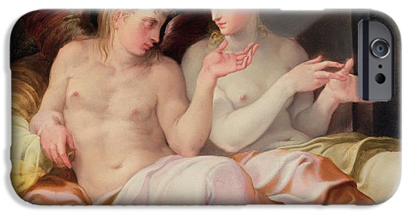 Cupid iPhone Cases - Eros and Psyche iPhone Case by Niccolo dell Abate