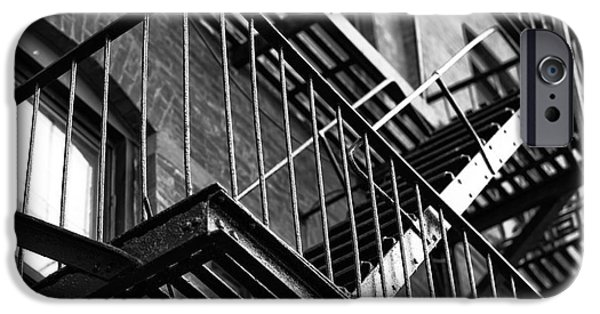 Escape iPhone Cases - Escape Angles in Little Italy mono iPhone Case by John Rizzuto