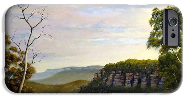 Landscapes Reliefs iPhone Cases - Escarpments Edge iPhone Case by John Cocoris