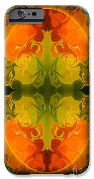 Vivid Glass iPhone Cases - Eternal Energies Abstract Mandala Art by Omashte iPhone Case by Omaste Witkowski