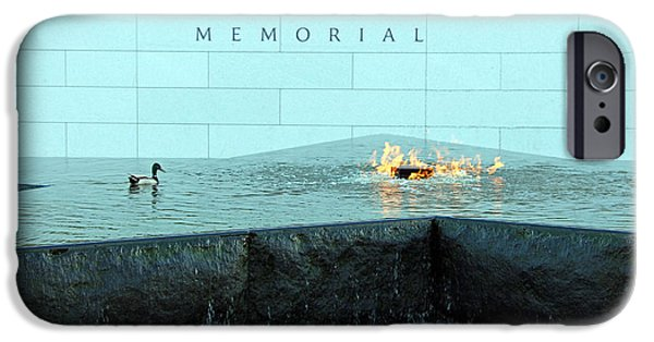 President Barack Obama Photographs iPhone Cases - Eternal Flame At Disabled American Veterans Memorial iPhone Case by Cora Wandel