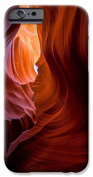 Red Rock iPhone Cases - Eternal Flame iPhone Case by Darren Neupert