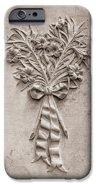 Headstone iPhone Cases - Eternal Lilies iPhone Case by Tom Mc Nemar
