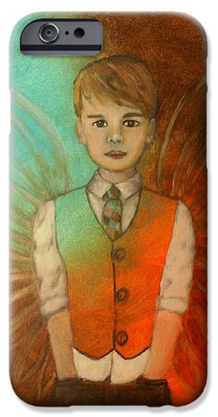 Ethan Little Angel of Strength and Confidence iPhone Case by The Art With A Heart By Charlotte Phillips