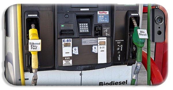 Automotive iPhone Cases - Ethanol Flex-fuel & Biodiesel Fuel Pumps iPhone Case by Inga Spence