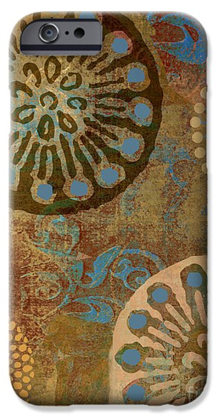 Patterns Paintings iPhone Cases - Etheric Circles Ethnic Art Pattern iPhone Case by Mindy Sommers