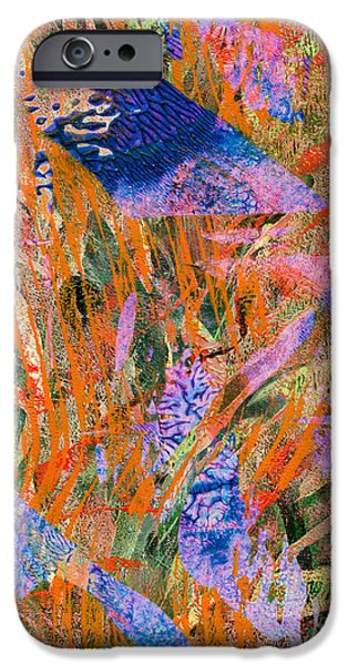 Abstract Digital Mixed Media iPhone Cases - Evaporation iPhone Case by Laura L Leatherwood