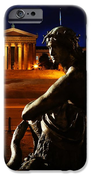 Recently Sold -  - Franklin iPhone Cases - Eve in the Garden of Art - Philadelphia Museum of Art - Washington Memorial Fountain  iPhone Case by Lee Dos Santos
