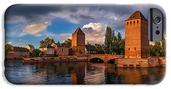 River View iPhone Cases - Evening after the rain on the Ponts Couverts iPhone Case by Dmytro Korol