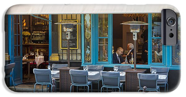 French Open iPhone Cases - Evening at Chez Julien iPhone Case by Brian Jannsen