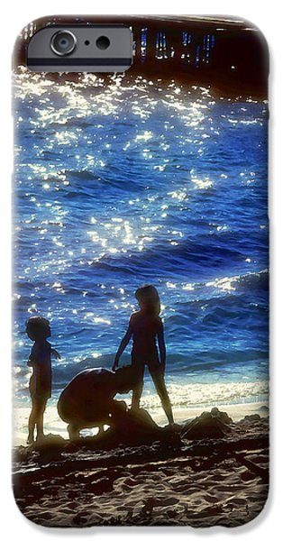 evening at the beach iPhone Case by Stephen Anderson