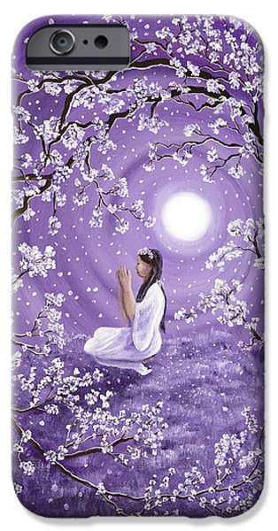 Yin Paintings iPhone Cases - Evening Blessing iPhone Case by Laura Iverson