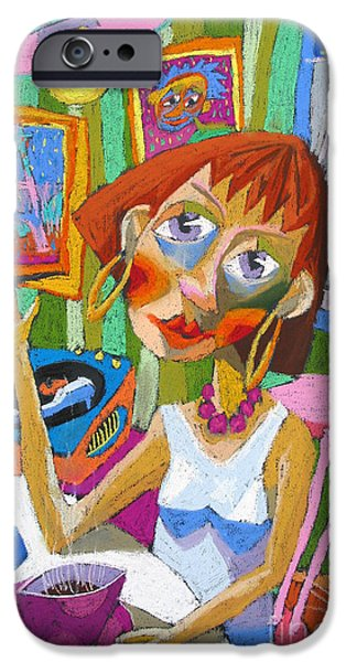 Figurativ iPhone Cases - Evening Dream iPhone Case by Yuriy  Shevchuk