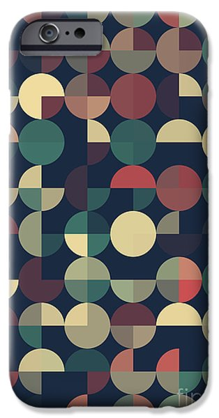 Abstract iPhone Cases - Evening Geometric Circle Pie Pattern iPhone Case by Frank Ramspott