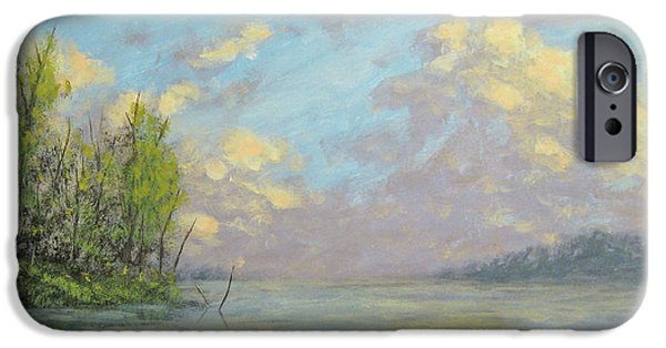 Recently Sold -  - Storm iPhone Cases - Evening Lakeside Storms iPhone Case by Matthew Hannum