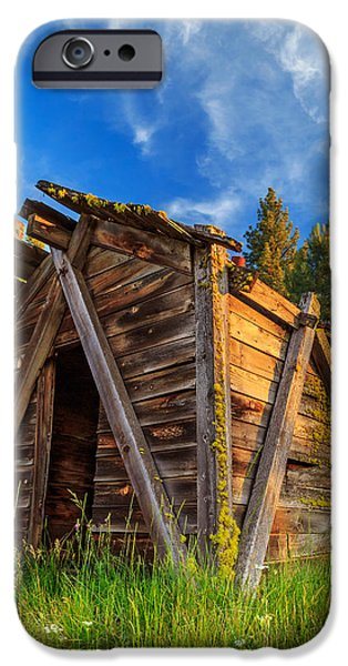 Recently Sold -  - Rural iPhone Cases - Evening Light On An Old Cabin iPhone Case by James Eddy