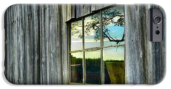 Old Barn iPhone Cases - Evening Out at the Barn iPhone Case by Julie Dant