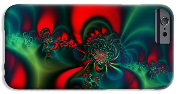 Geometric Artwork iPhone Cases - Evening Queen iPhone Case by Ian Mitchell