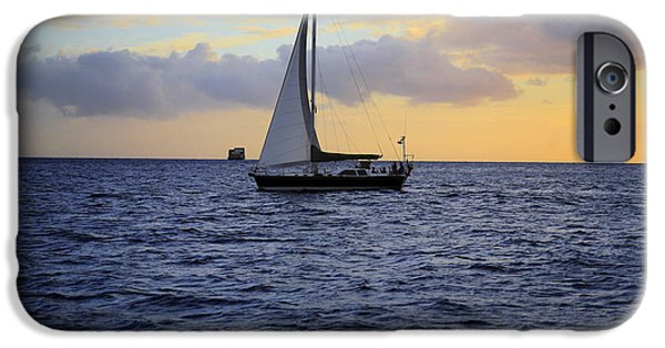 Ocean Images iPhone Cases - Evening Sail iPhone Case by Cheryl Young
