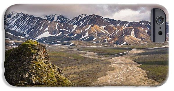 Interior Scene iPhone Cases - Evening Scenic View Of Polychrome Pass iPhone Case by Michael Jones